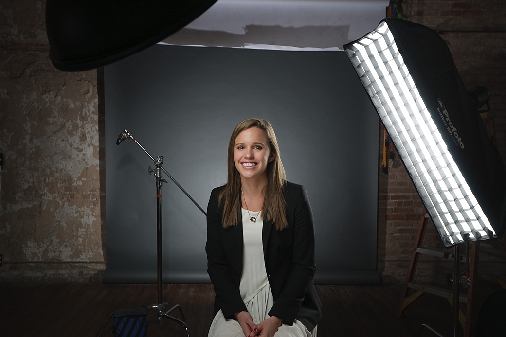 As you will see in the above image Natalie was sitting in our studio (TheHoustonStudio) and the environment was of little impact other than the backdrop.  sc 1 st  Jason Talley Photography & Building a Headshot One Light at a Time » Jason Talley Photography azcodes.com